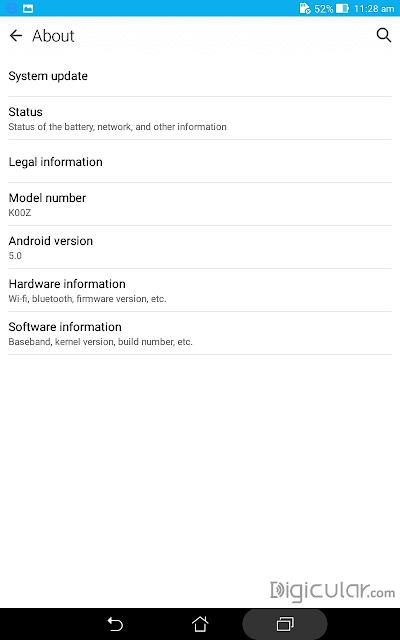 Device info Asus fonepad 7 Lollipop 5.0