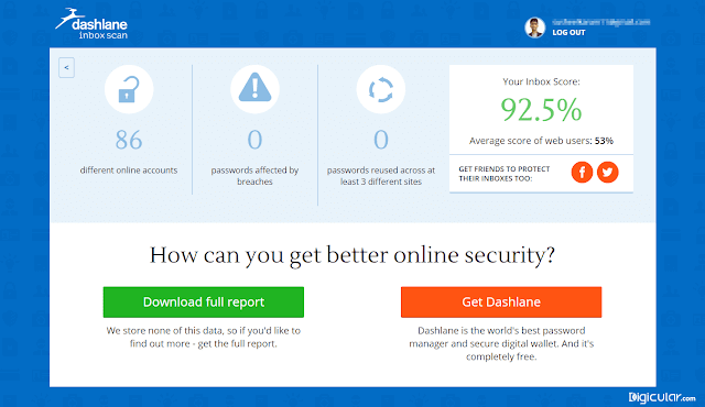 Inbox security score dashlane inbox