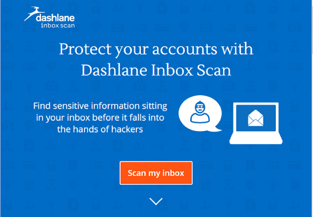 Scan Email with Dashlane inbox scan