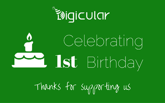 Digicular first anniversary