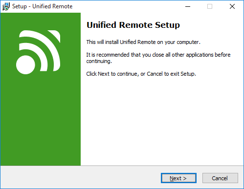 Unified remote setup windows pc