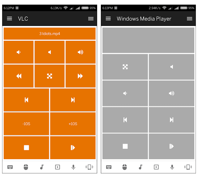 VLC and windows media player controller - Unified remote android