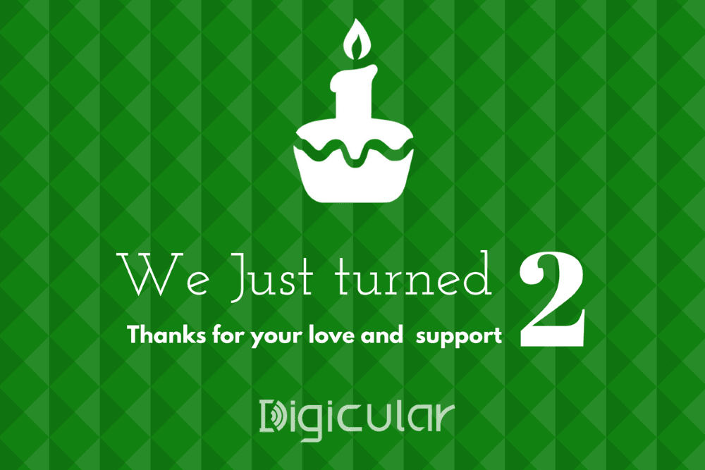 Digicular 2nd birthday