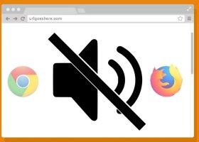 Mute Tab Website Audio or Sound in Google Chrome & Firefox Quantum