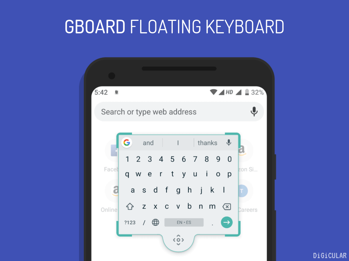 Gboard floating keyboard android Google keyboard Digicular