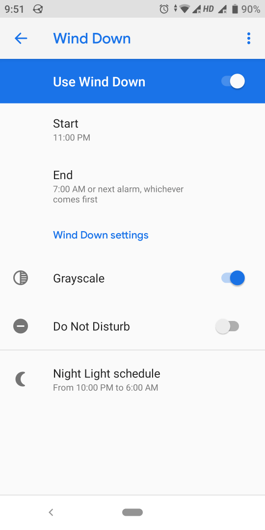 Digital wellbeing app Wind down DND Grayscale Night light - Digicular
