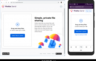 Firefox Send in Desktop browser and Mobile Web browser app - Digicular
