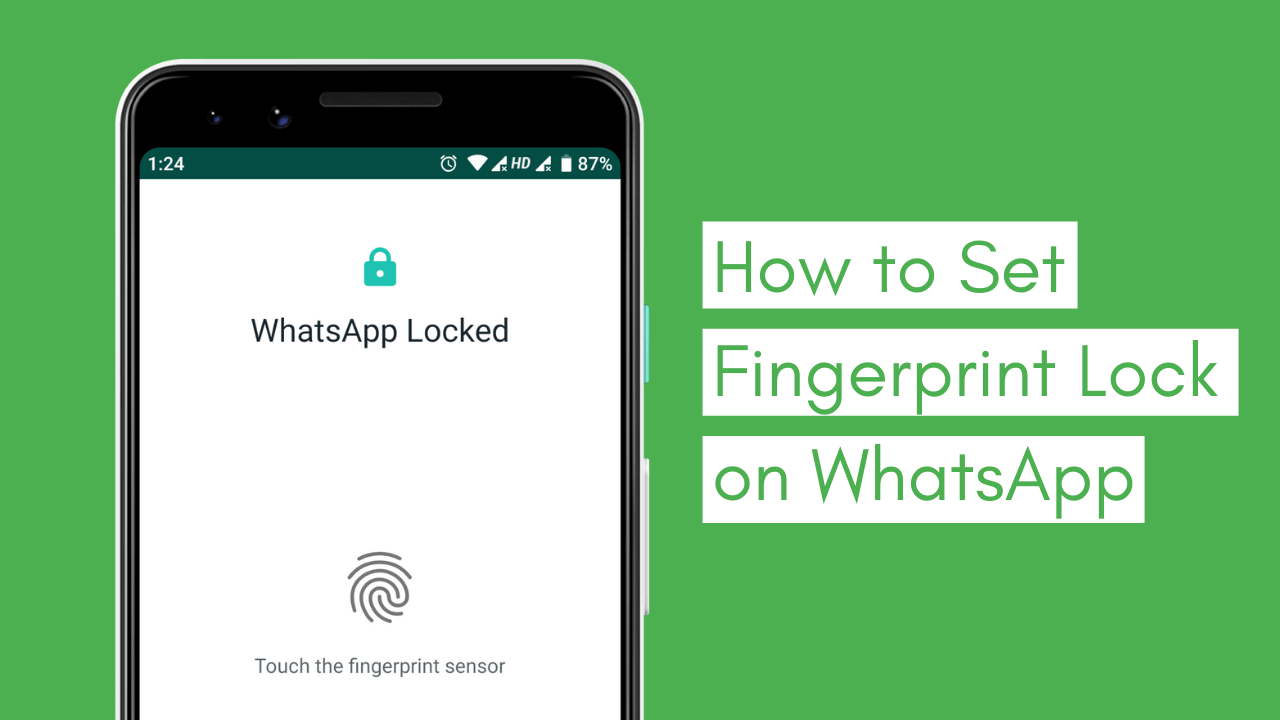 Whatsapp Biometric Fingerprint lock unlock Android