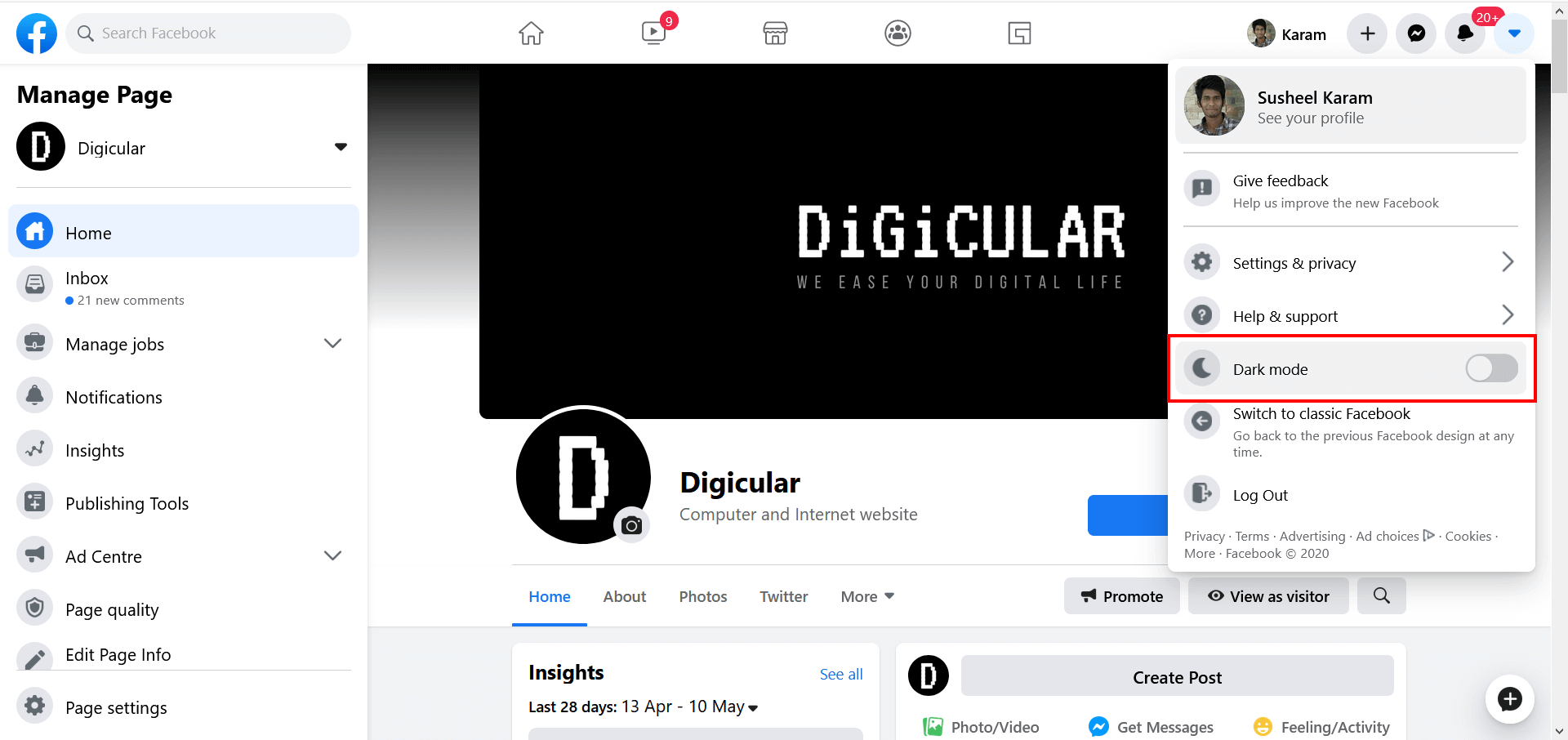 Enable_dark_mode_facebook_desktop_interface_digicular